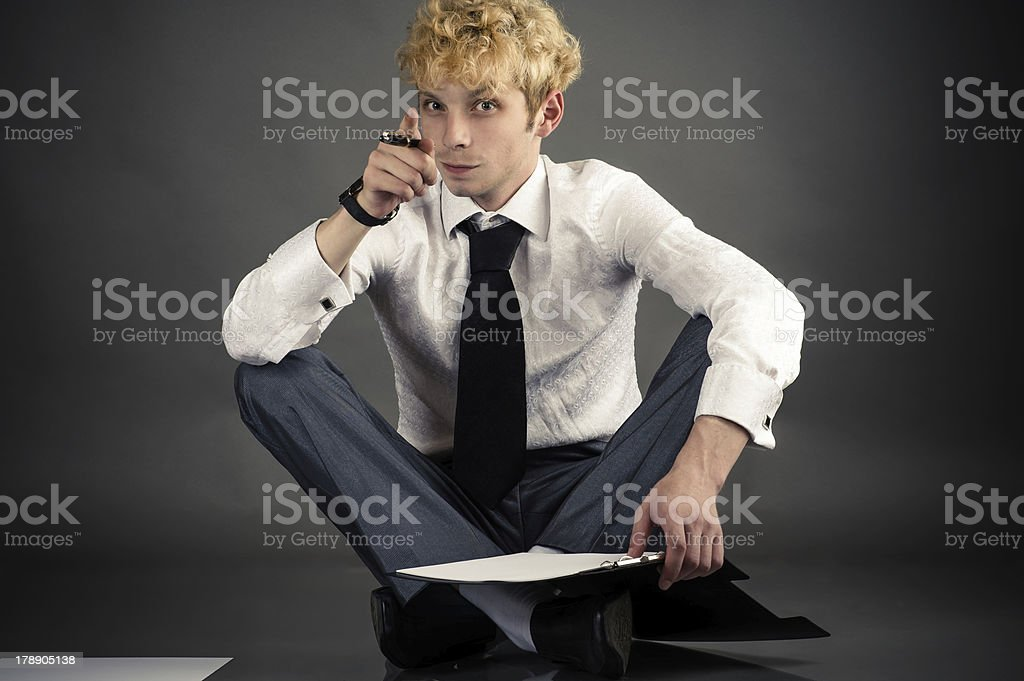 young businessman making a choice royalty-free stock photo
