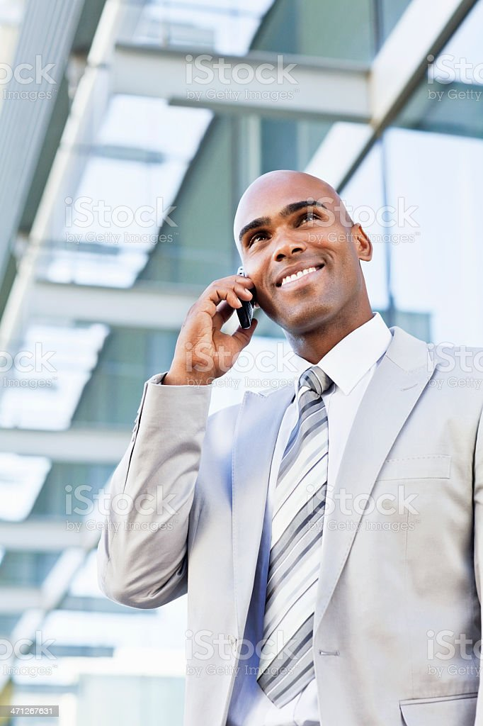 Young Businessman on a Cellphone royalty-free stock photo