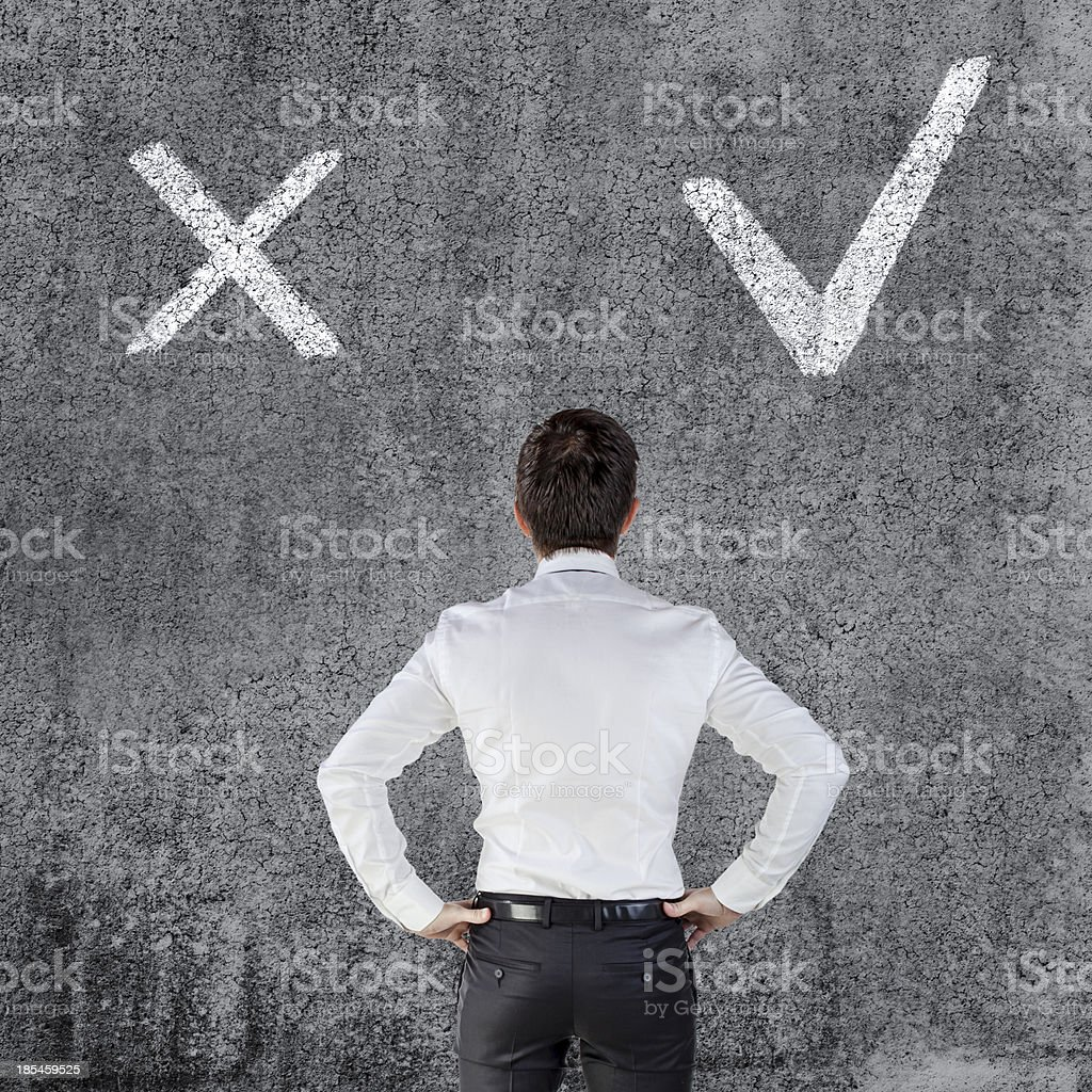 young businessman on grunge background royalty-free stock photo