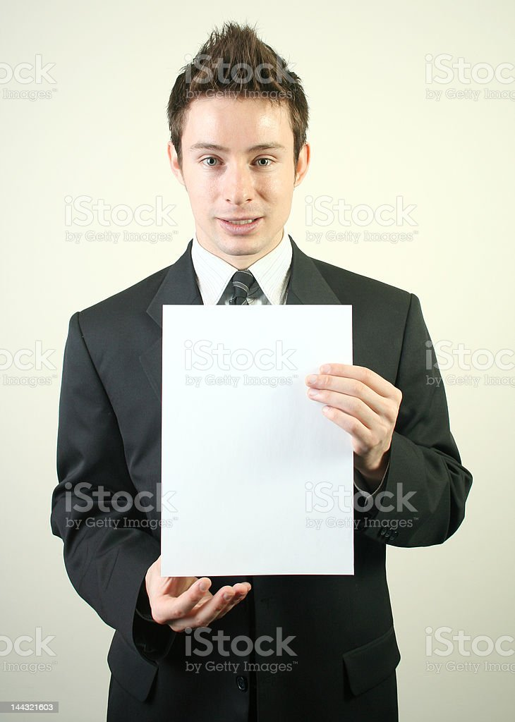 Junger Geschäftsmann Lizenzfreies stock-foto