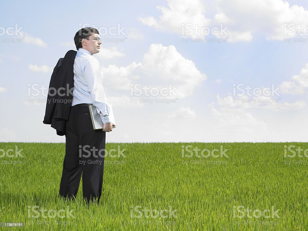 Young businessman planning the future stock photo