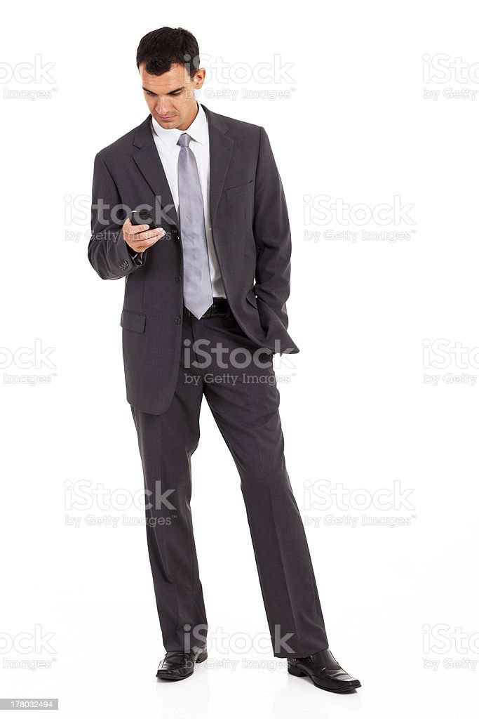 young businessman reading sms royalty-free stock photo