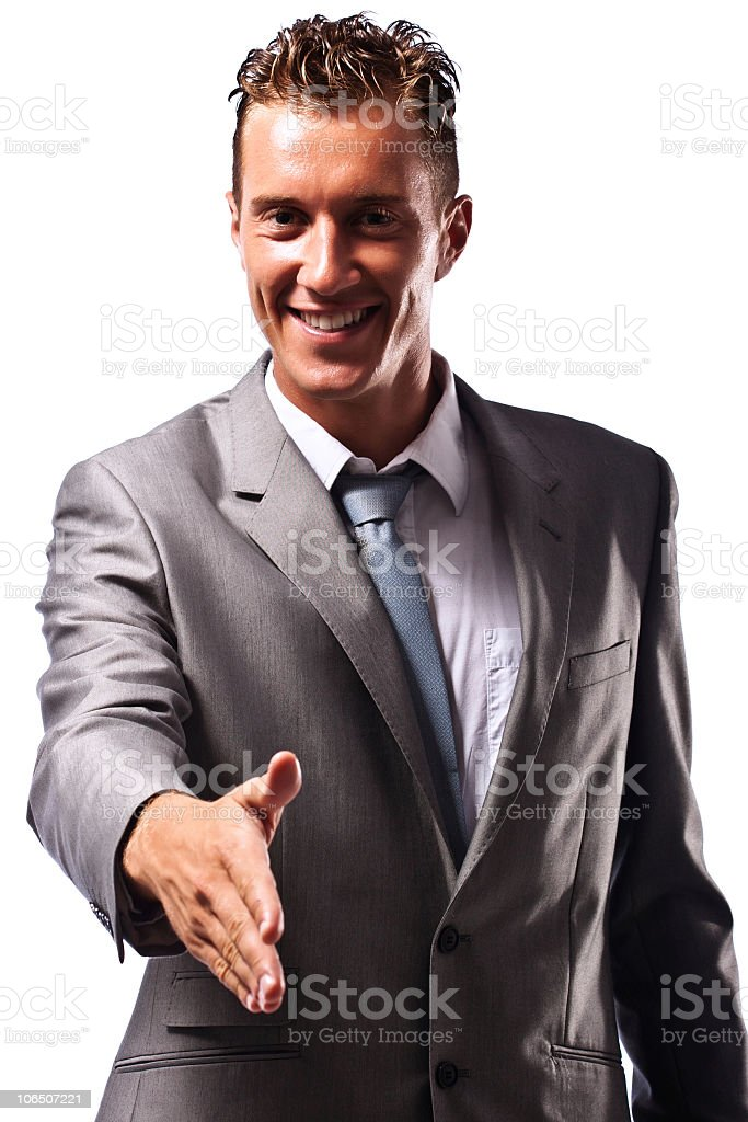 Young Businessman ready to make deal royalty-free stock photo