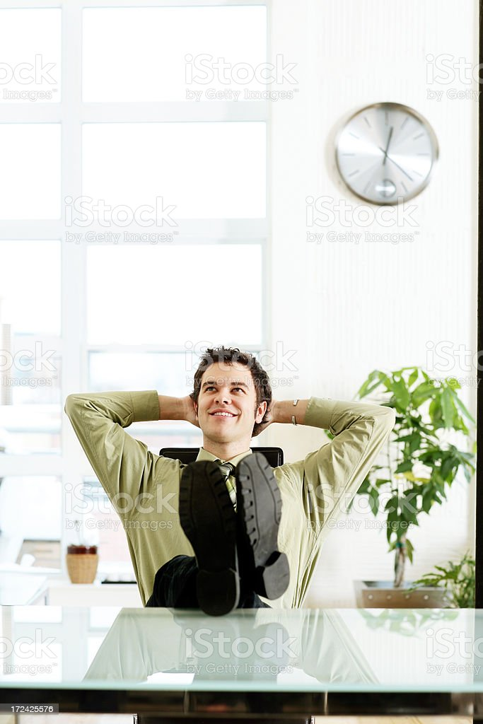 Young Businessman relaxing royalty-free stock photo