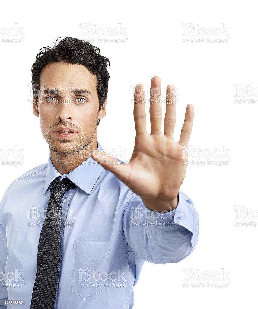 Stop right there! royalty-free stock photo