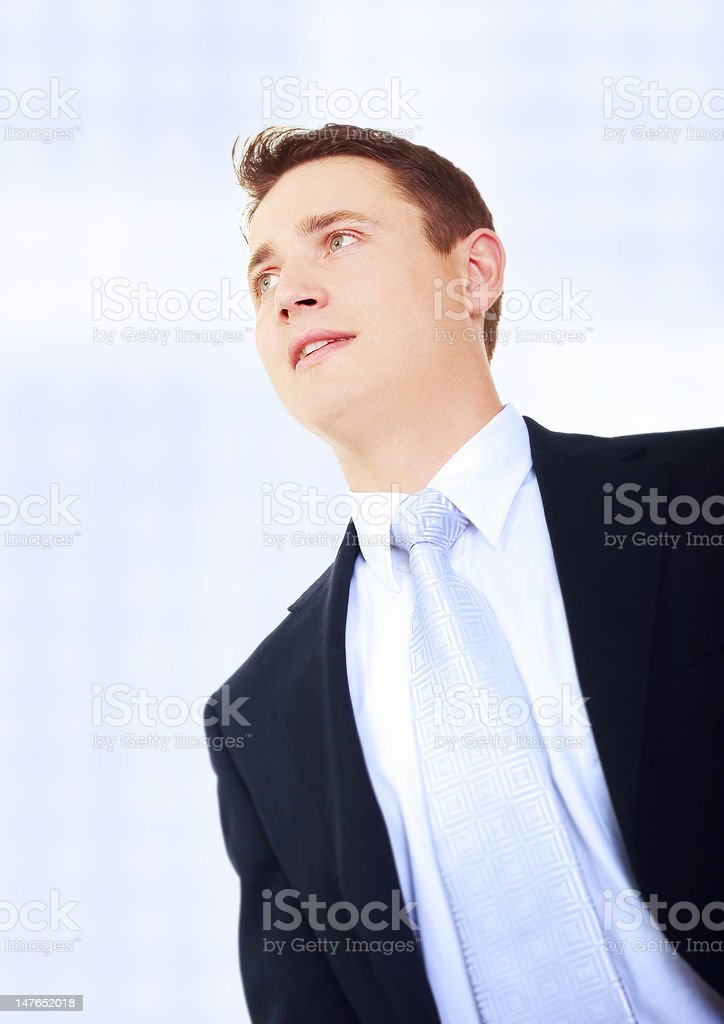 young businessman standing royalty-free stock photo