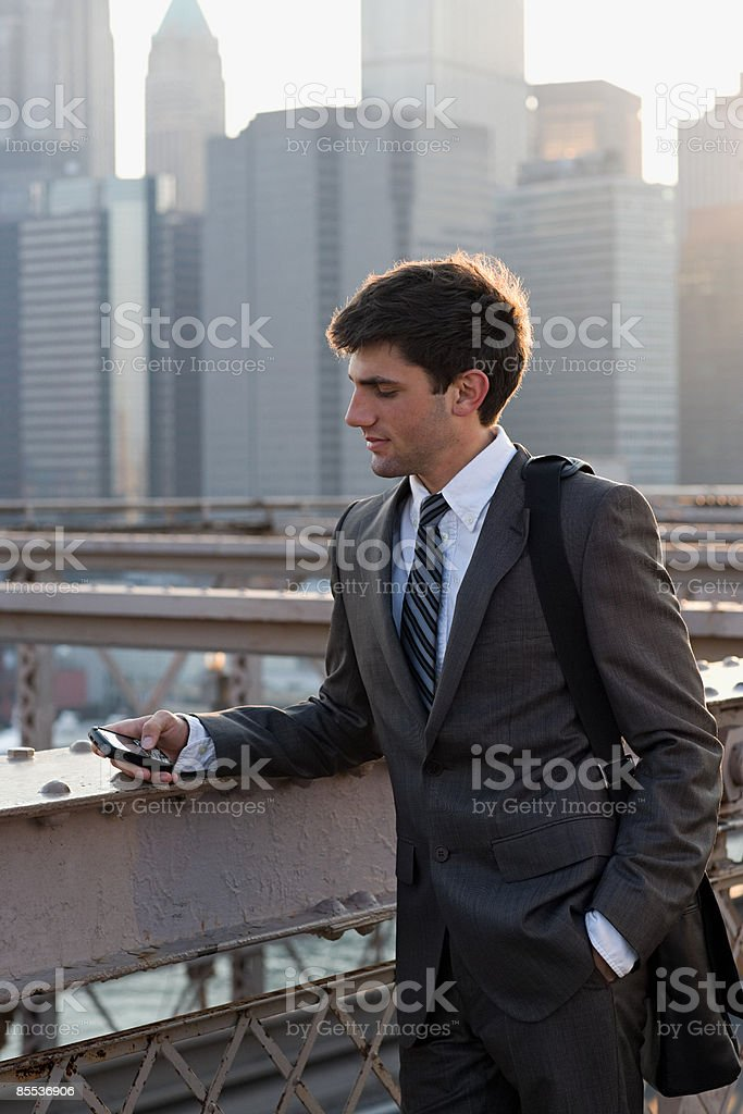 Young businessman text messaging royalty-free stock photo