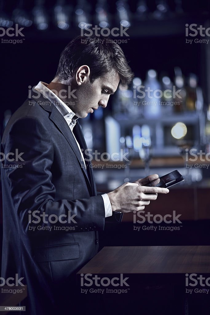 Young businessman using digital tablet royalty-free stock photo