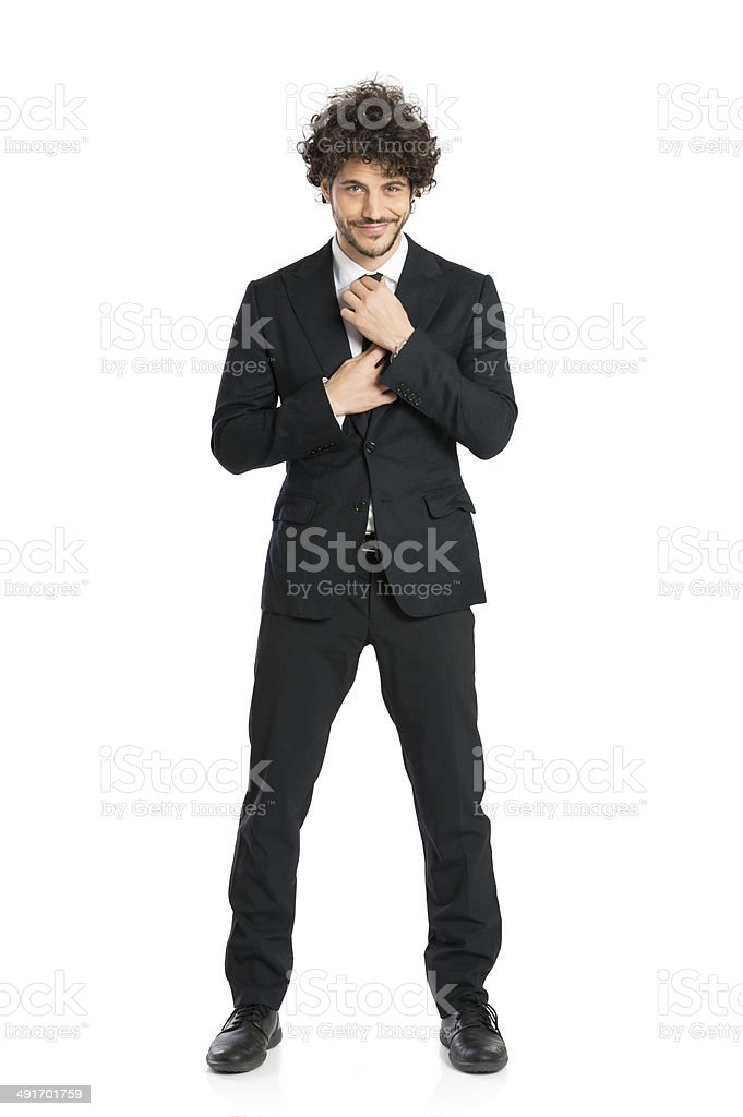 Young Businessman Wearing Tie stock photo