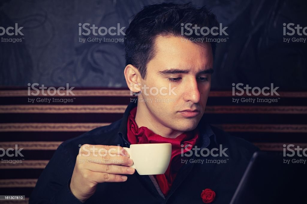 Young businessman with coffee royalty-free stock photo