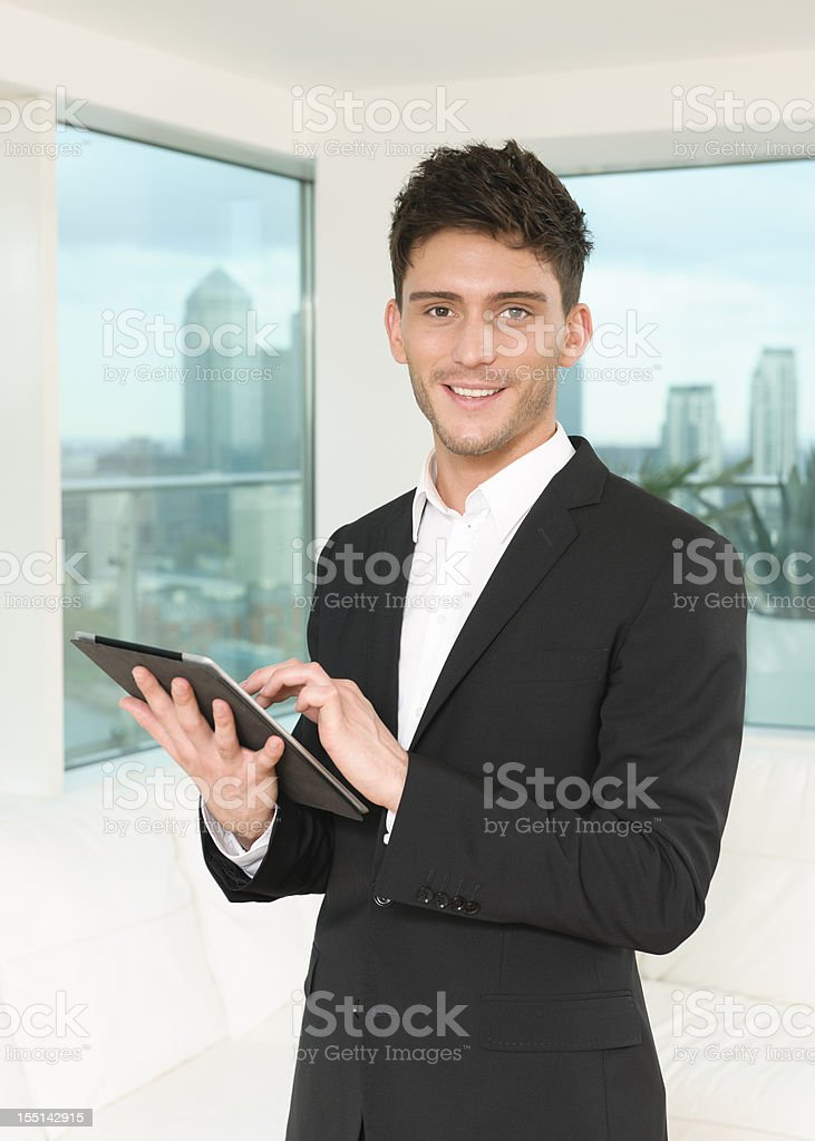 Young Businessman with Digital Tablet royalty-free stock photo
