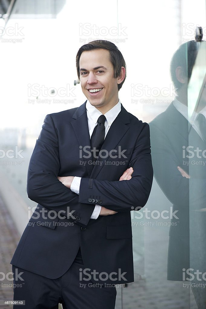 Young businessman with happy expression royalty-free stock photo