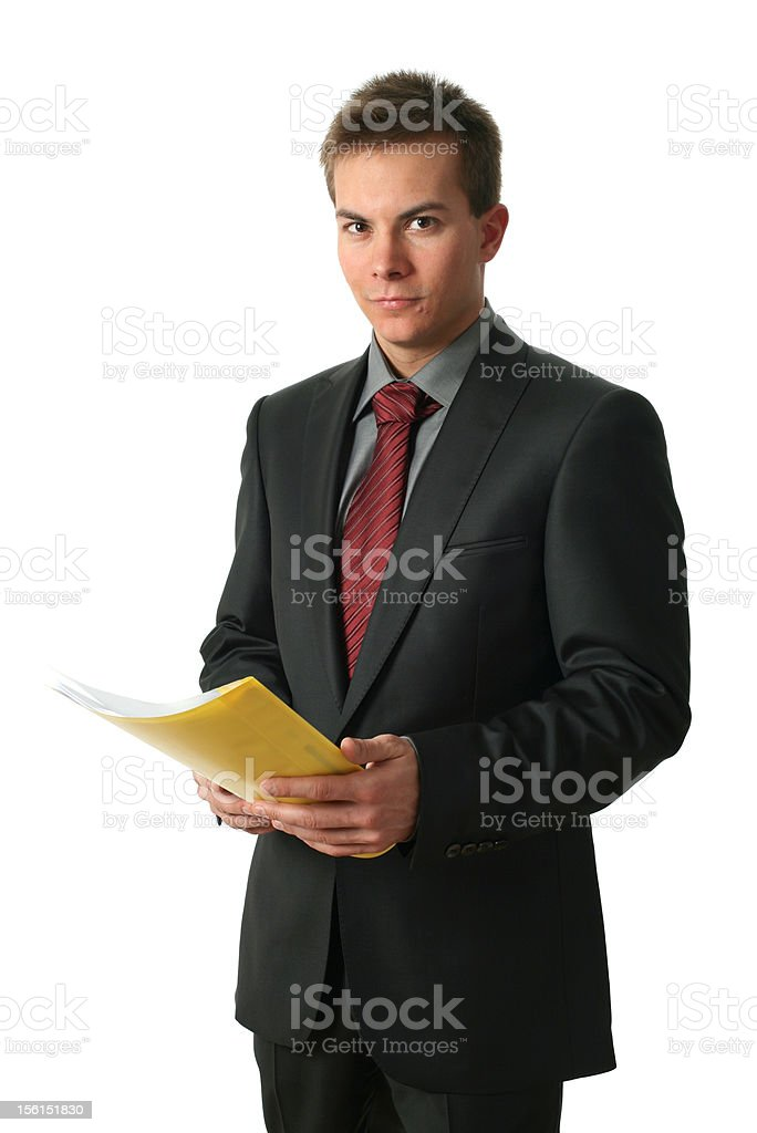 Young Businessmen with Documents royalty-free stock photo