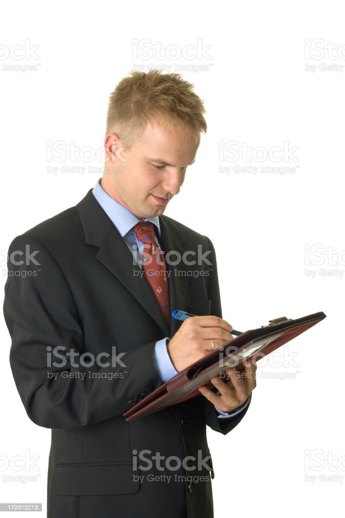 young businessmen with folder royalty-free stock photo