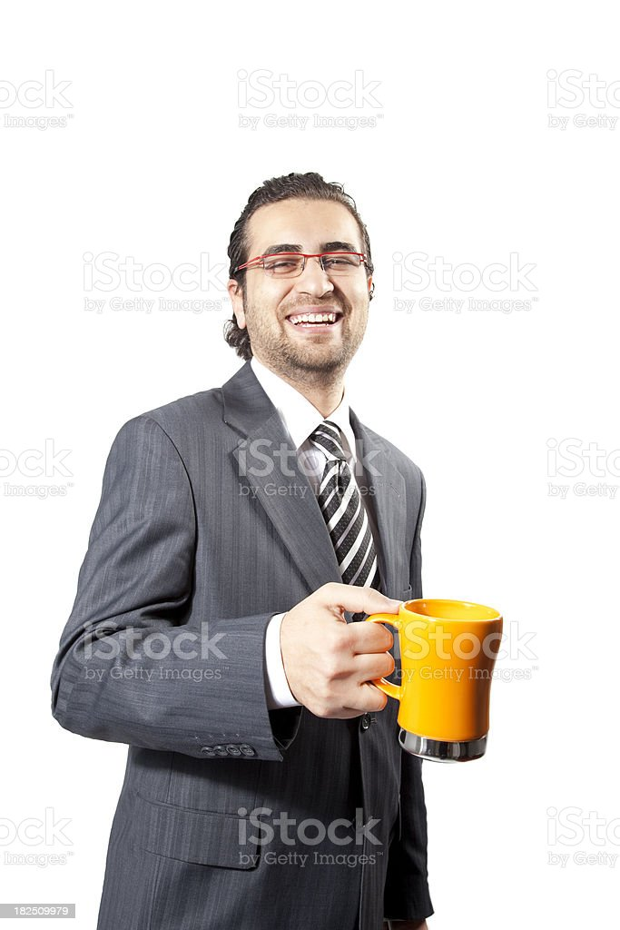 Young Businessmen with Tea Cup royalty-free stock photo