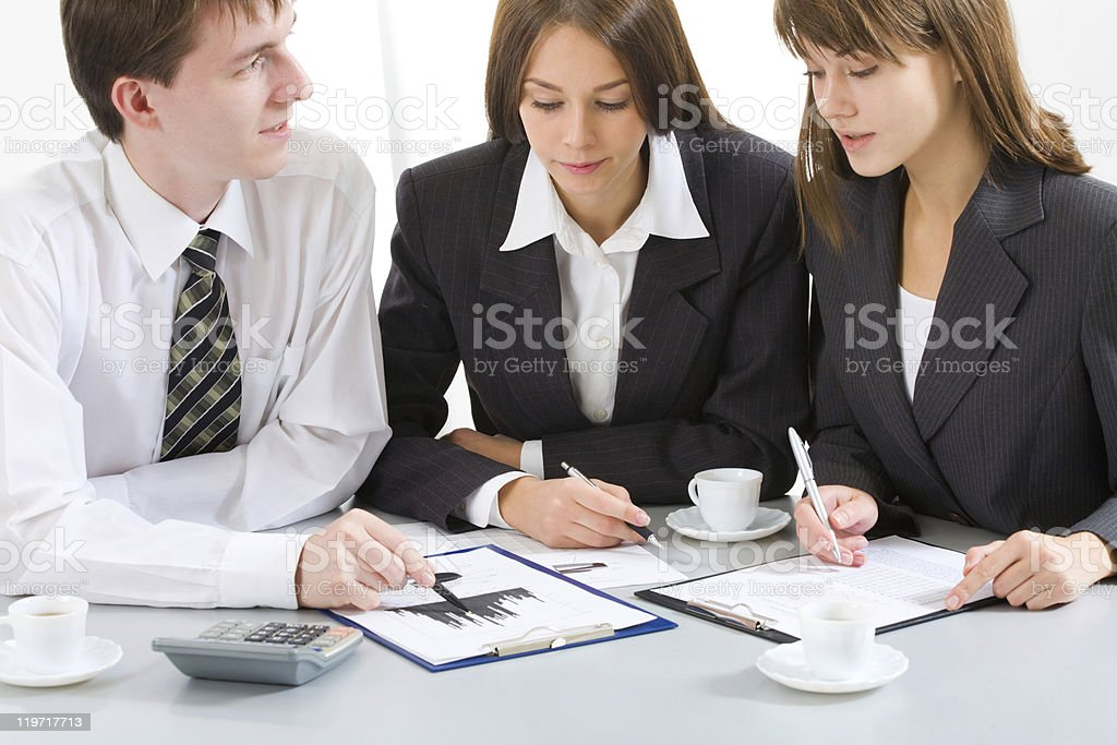 Young businesspeople royalty-free stock photo