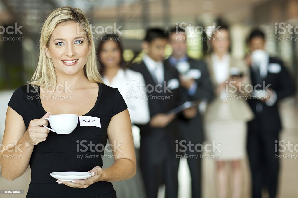 young businesswoman coffee break royalty-free stock photo