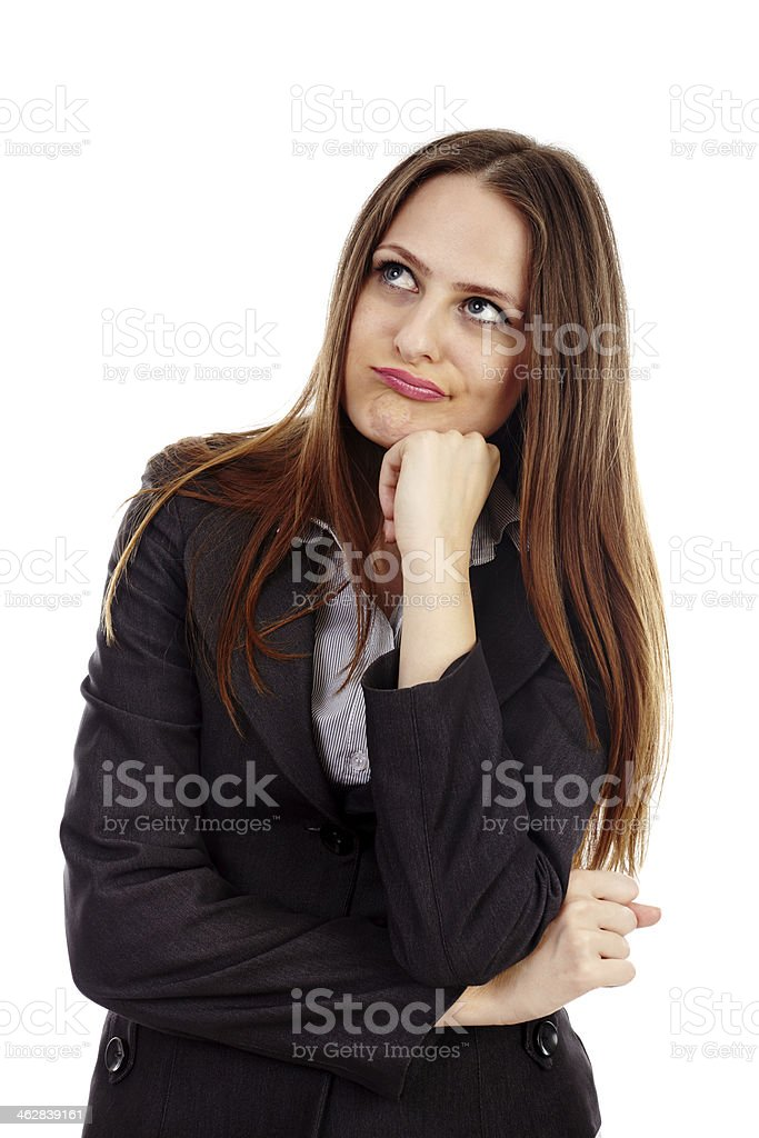 Young businesswoman expressing boredom royalty-free stock photo