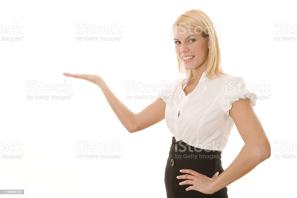 Young businesswoman gesturing royalty-free stock photo