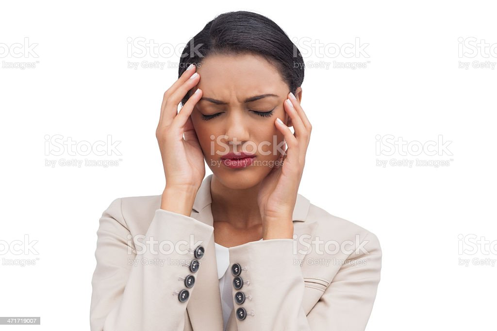 Young businesswoman having a headache royalty-free stock photo