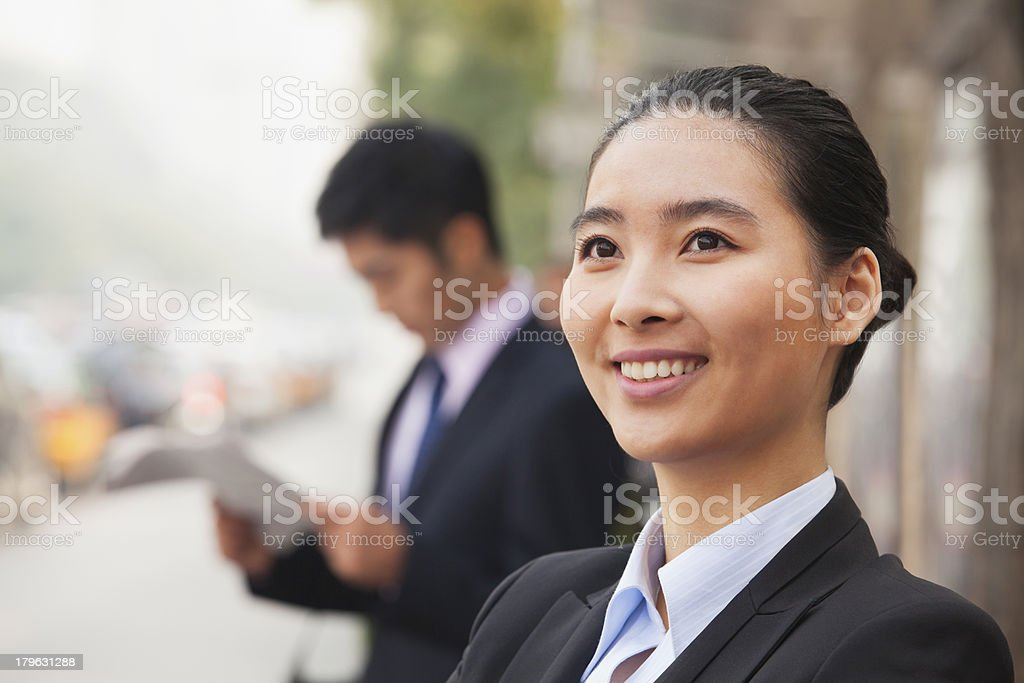 Young Businesswoman in Beijing, China, portrait royalty-free stock photo