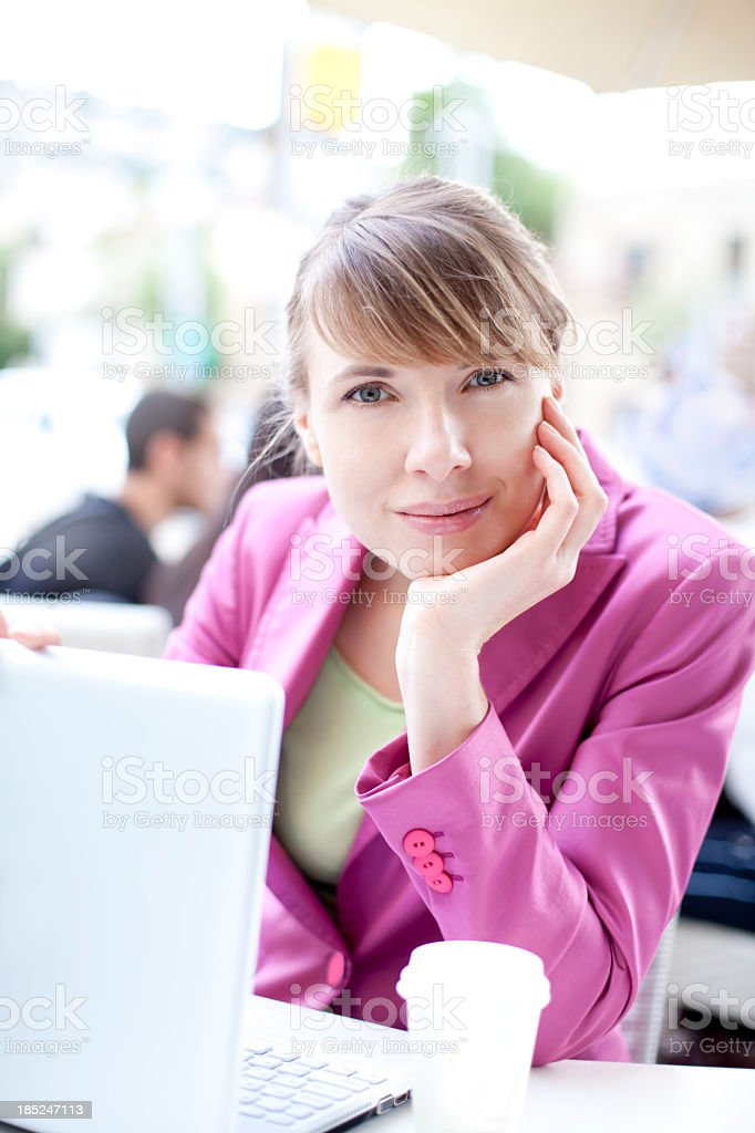 Young Businesswoman In Cafe royalty-free stock photo