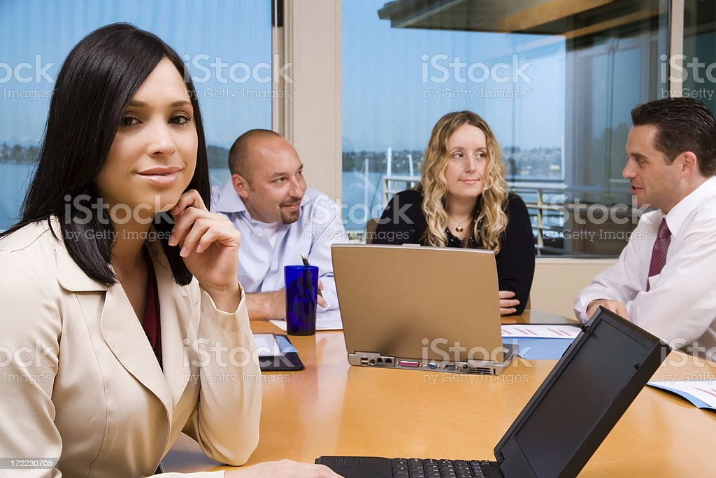 Young Businesswoman in Charge royalty-free stock photo