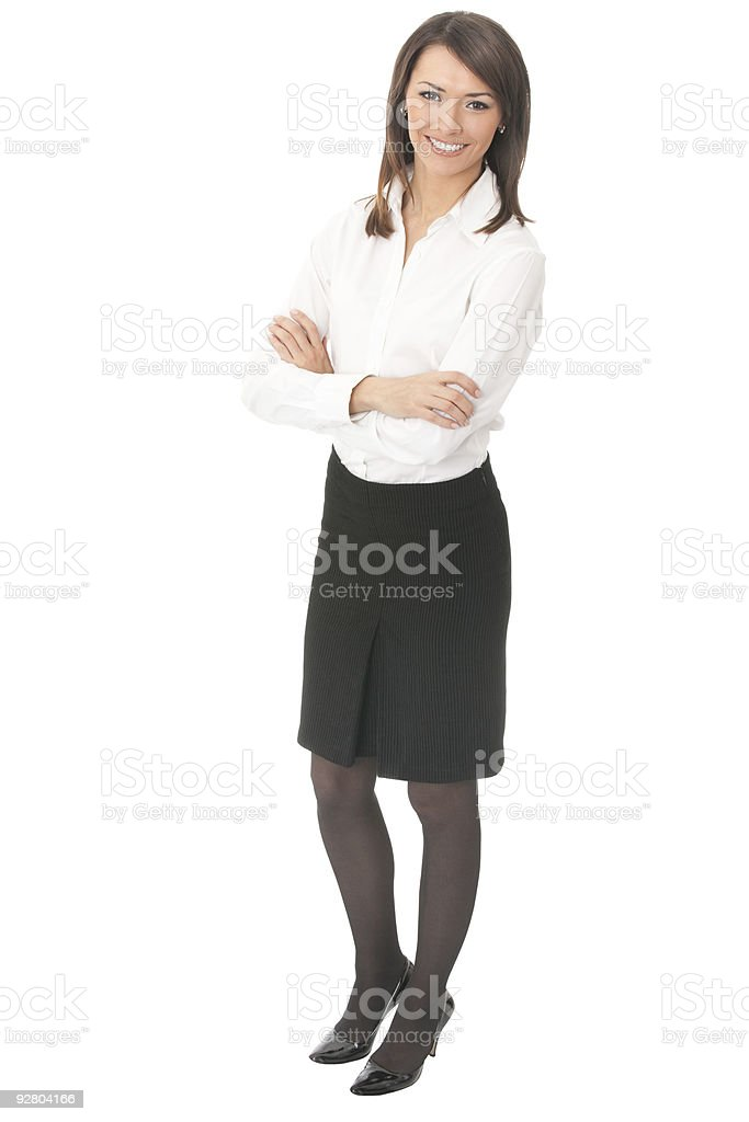 Young businesswoman, isolated royalty-free stock photo