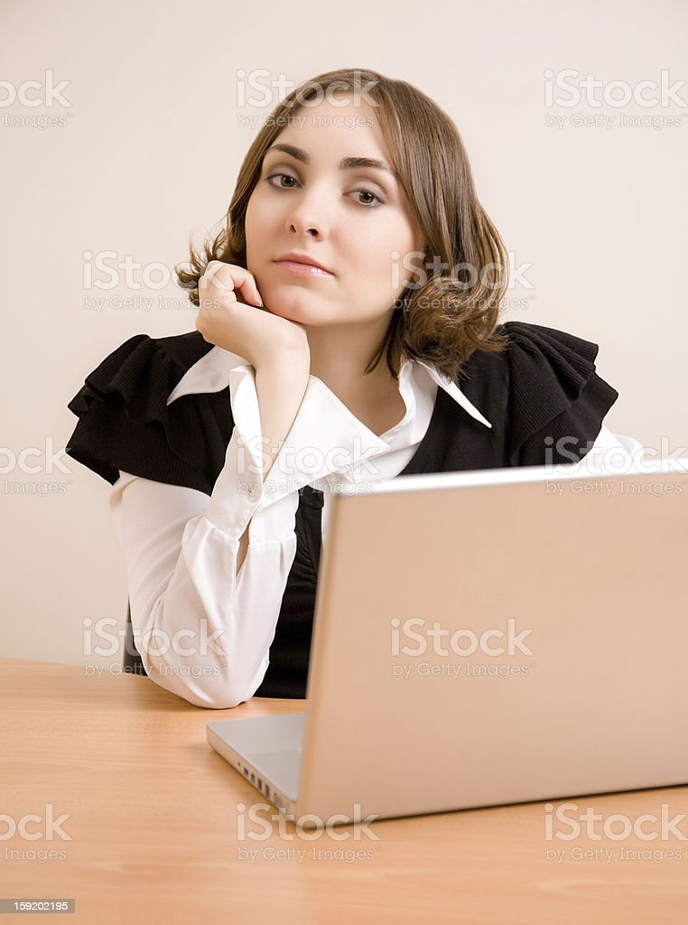 Young businesswoman looking to the camera stock photo