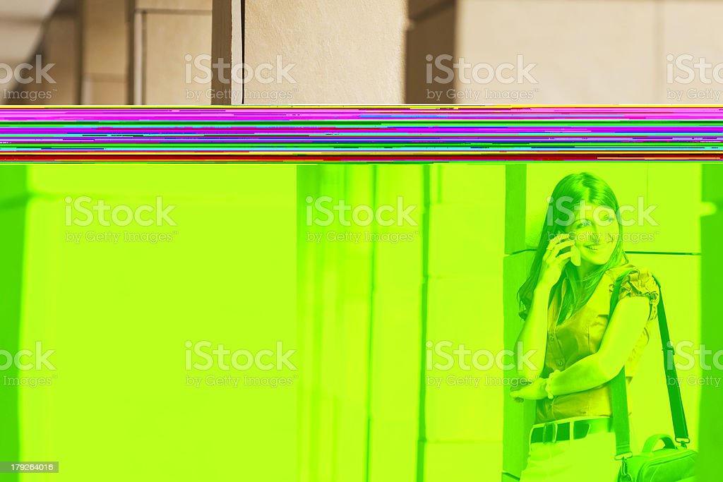 young businesswoman on the phone royalty-free stock photo