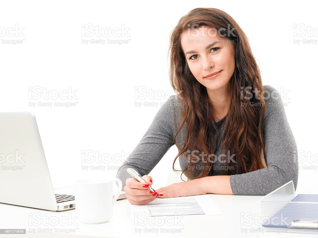 Young businesswoman portrait stock photo