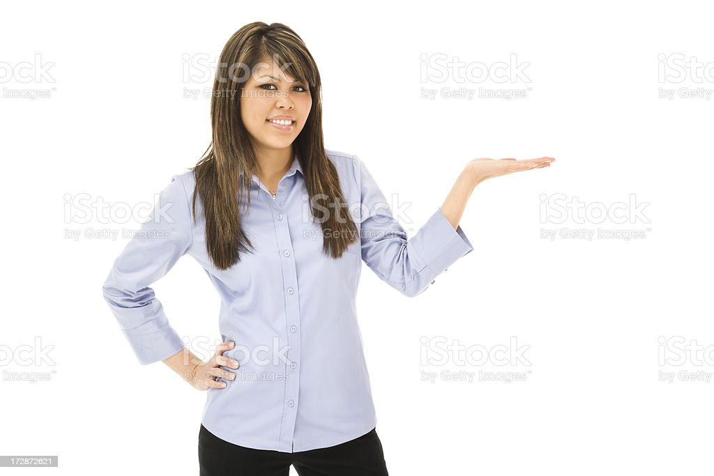 Young Businesswoman Presenting royalty-free stock photo