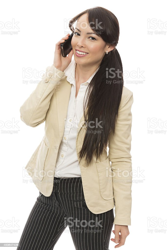 Young Businesswoman Using Cell Phone royalty-free stock photo
