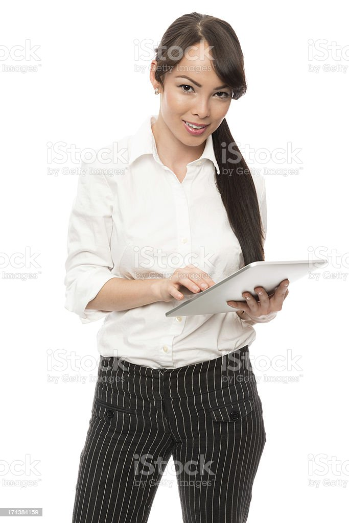 Young Businesswoman Using Digital Tablet royalty-free stock photo