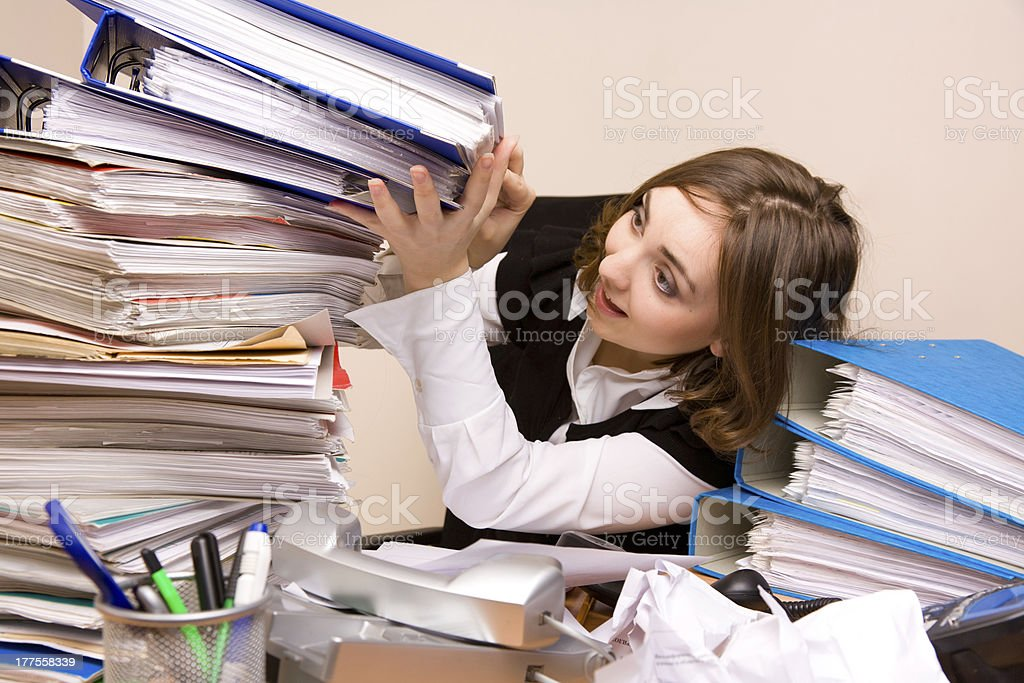 Young businesswoman with documents royalty-free stock photo