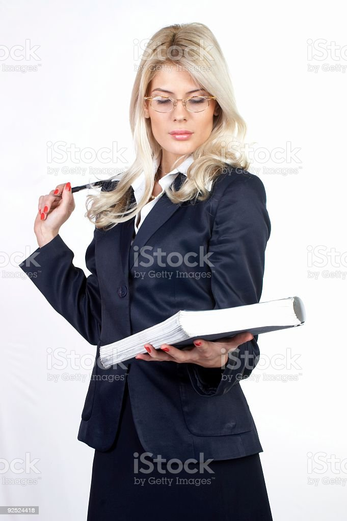 Young businesswoman-Taking Notes 01 royalty-free stock photo