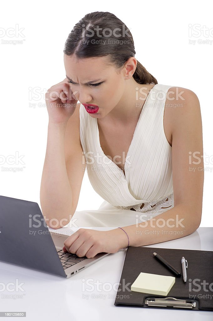 Young Businesswomen Angry at Work royalty-free stock photo