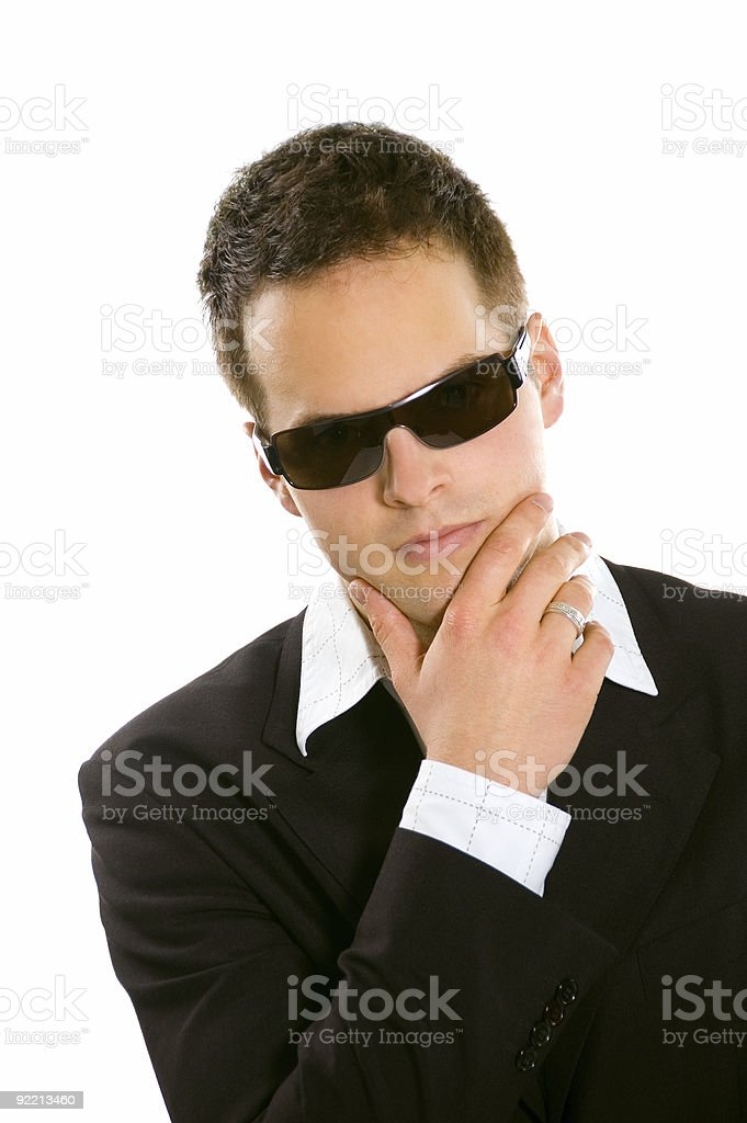Young Bussines man With Sunglasses royalty-free stock photo