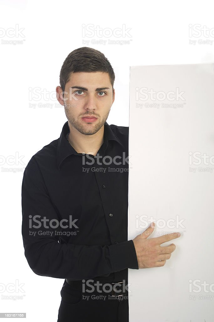 young bussinesman pointing royalty-free stock photo