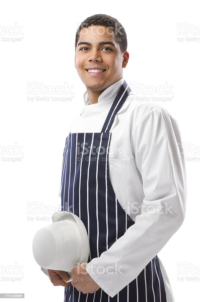 young butcher or baker royalty-free stock photo