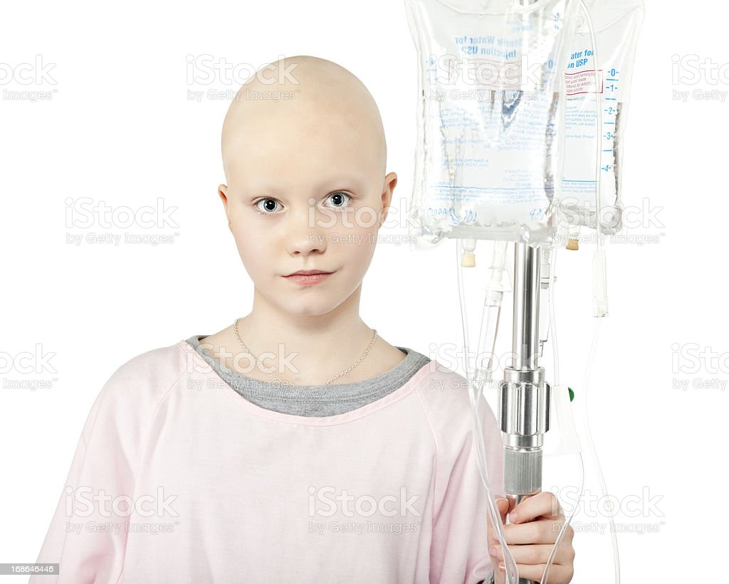 Young Cancer Patient (Isolated) stock photo