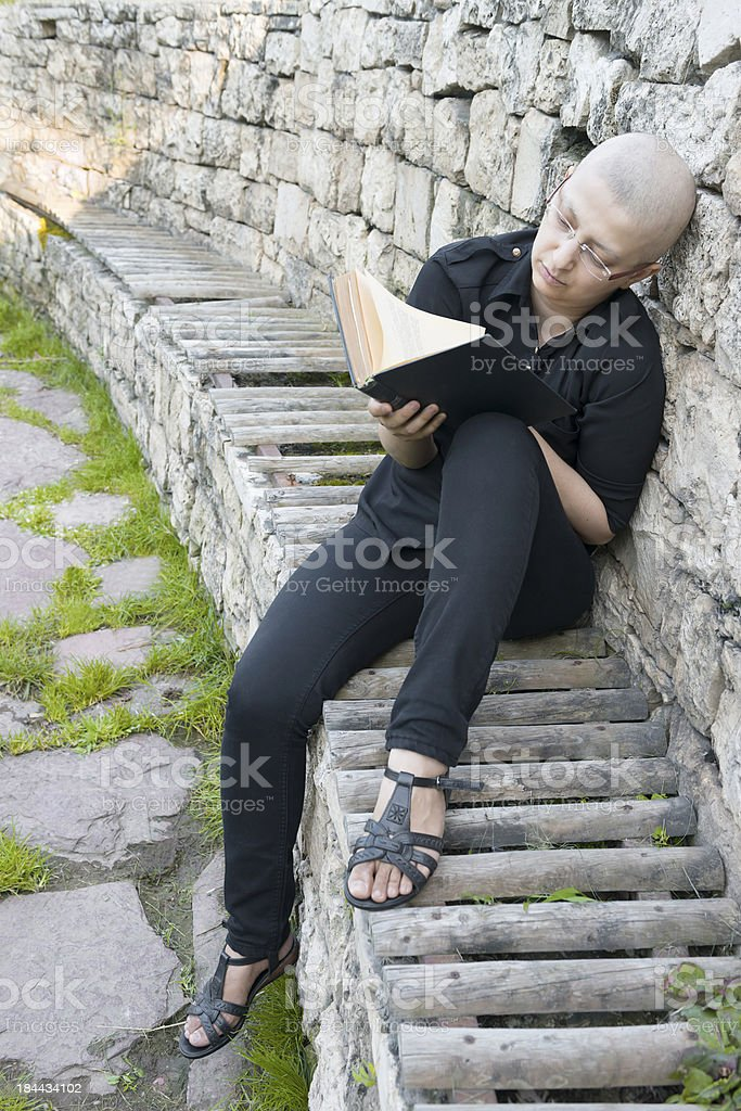 Young cancer survivor royalty-free stock photo