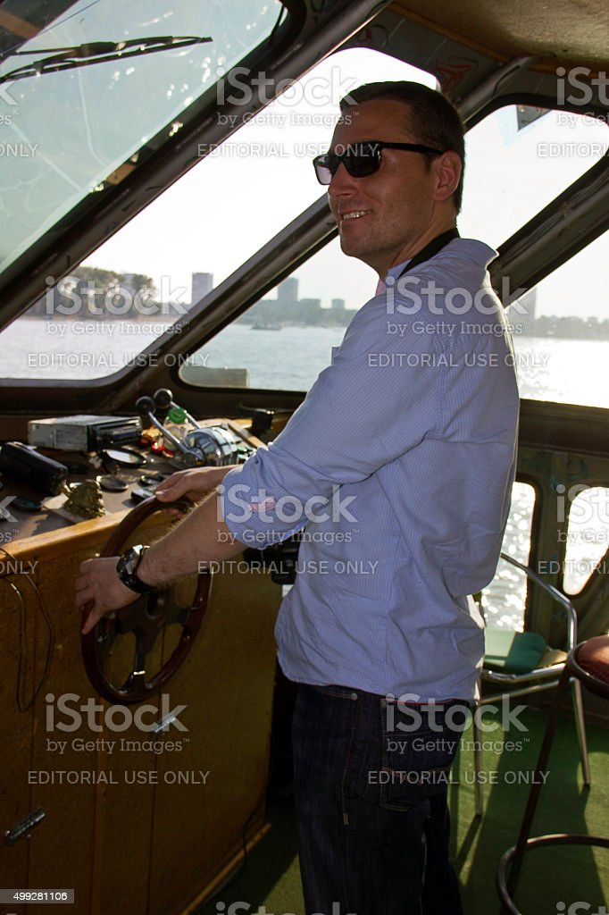 Young captain stock photo
