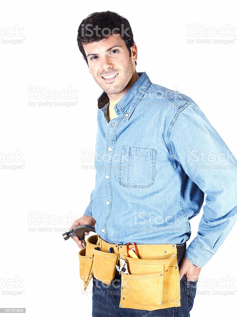 Young carpenter royalty-free stock photo