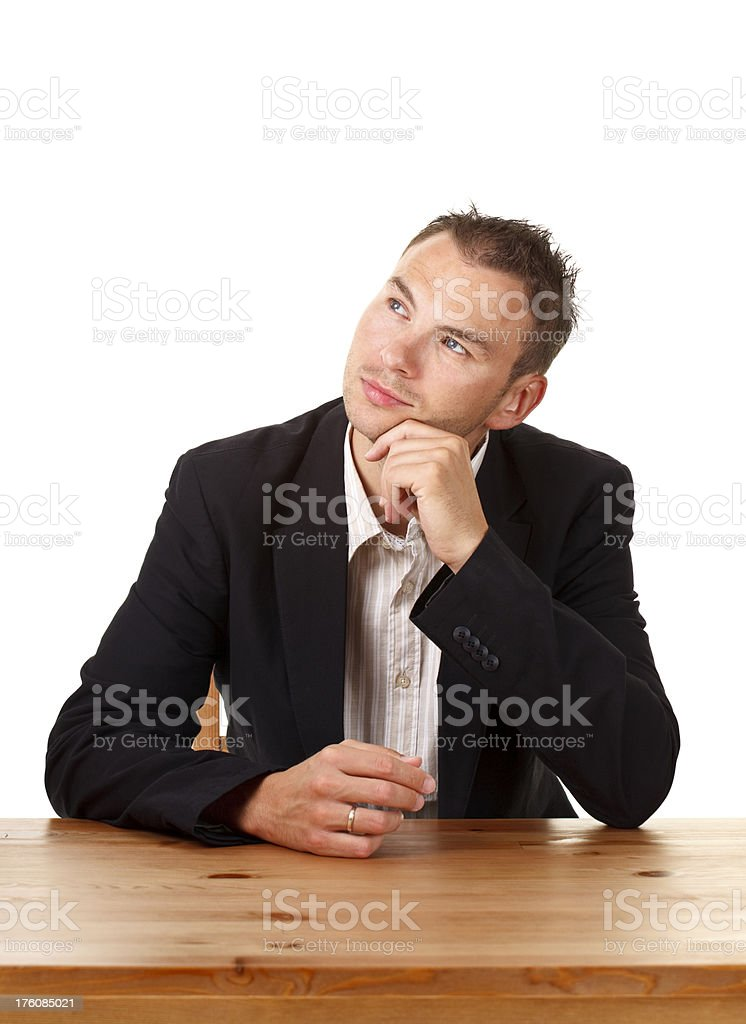 young casual businessman royalty-free stock photo