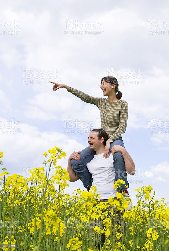 Young casual couple having fun royalty-free stock photo