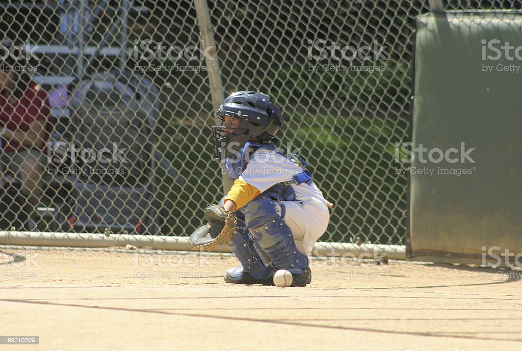 Young Catcher royalty-free stock photo