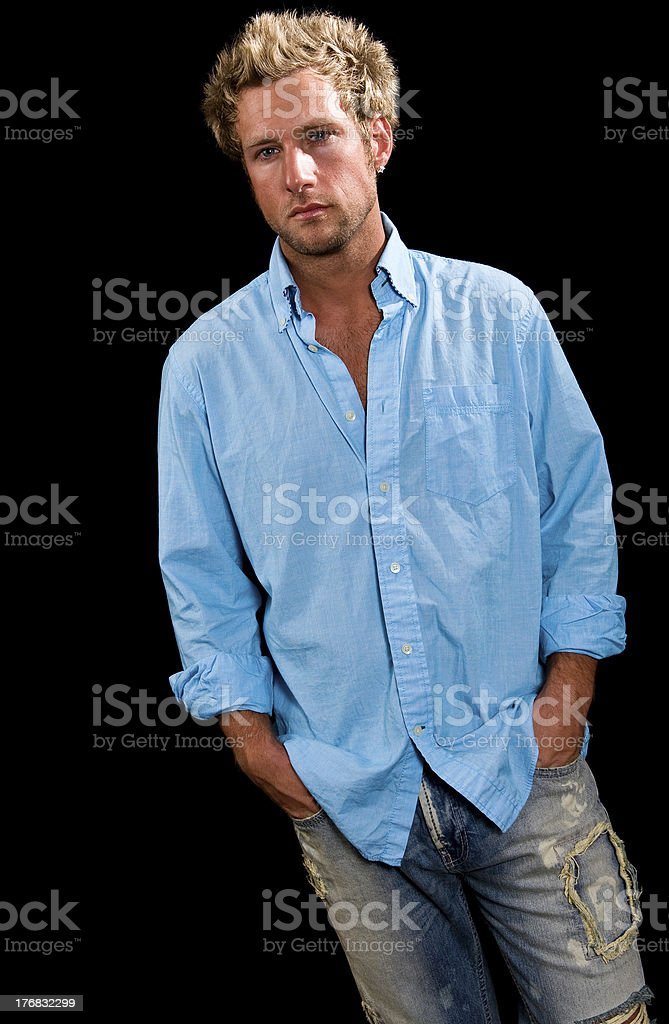 Young Caucasian blue eyed blonde male royalty-free stock photo