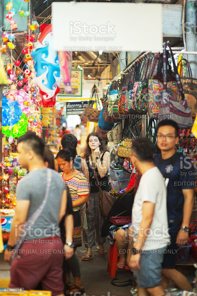 Young caucasian female tourist stock photo