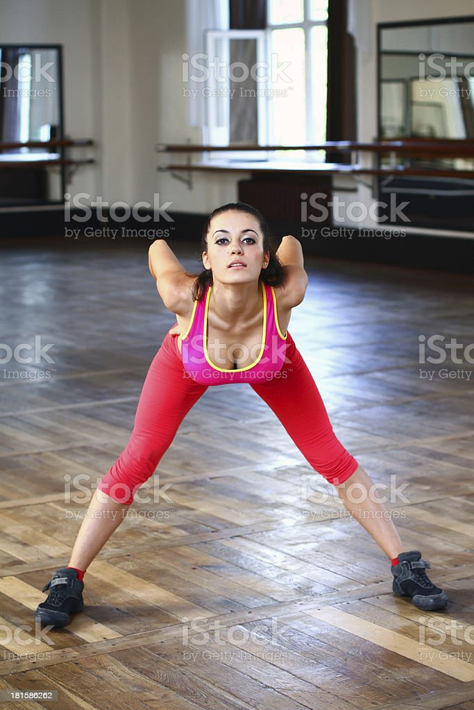 Young caucasian woman dancer is posing royalty-free stock photo